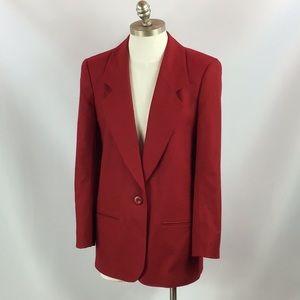 Vintage Miss Pendleton Red Wool Blazer 6